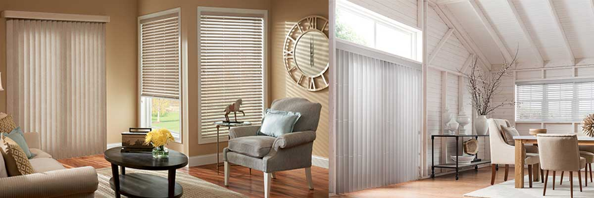 Vertical blinds for sliding glass patio doors - ZebraBlinds.ca