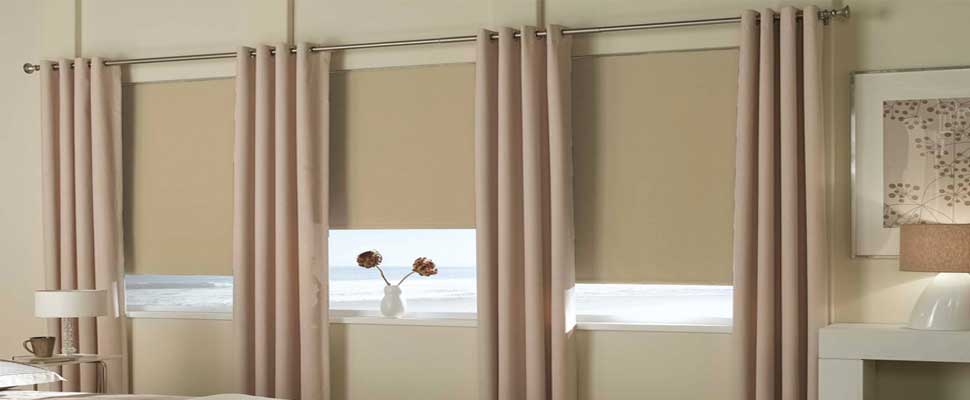 Blackout-roller-shades-curtains - Zebrablinds.ca