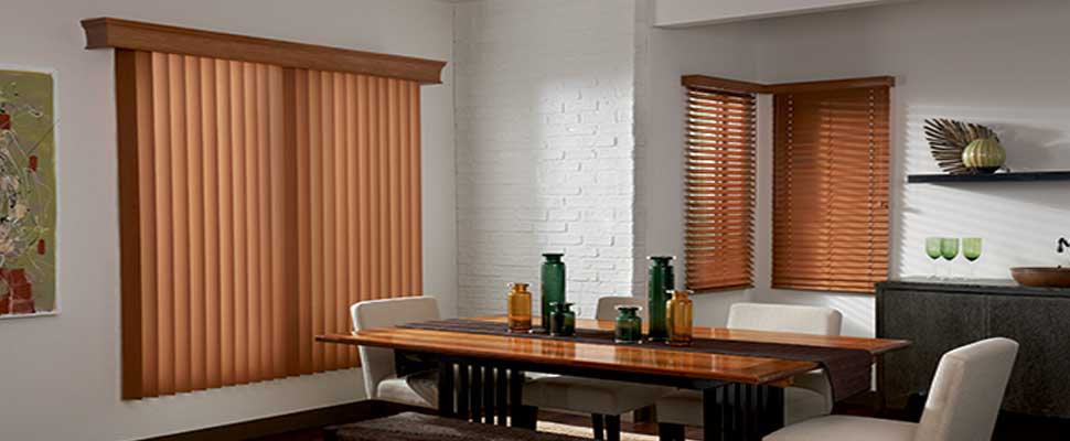 Matching-Vertical-faux-wood-blinds - ZebraBlinds.ca